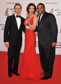 Linus Roache, Alana de la Garza and Anthony Anderson at the Golden Nymph awards ceremony during the 2008 Monte Carlo Television Festival.