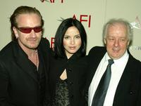 Bono, Andrea Corr and Jim Sheridan at the AFI's 2003 Awards Luncheon.