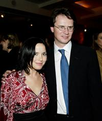 Andrea Corr and Peter Rice at the premiere of