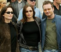 Sharon Corr, Caroline Sharon and Jim Corr at the press conference of