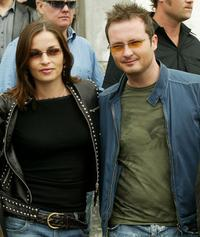Caroline Sharon and Jim Corr at the press conference of