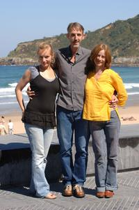 Nadja Uhl, Andreas Schmidt and Inka Friedrich at the photocall of