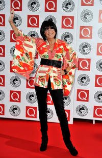 Sandie Shaw at the Q Awards 2010 in England.