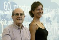 Director Manoel de Oliveira and Leonor Silveira at the Venice International Film Festival.