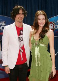 Tyson Ritter and Kim Smith at the premiere of