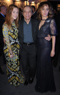 Cristiana Capotond, Sergio Solli and Valeria Golino at the cocktail party by Lancia Cafe during the 6th Rome Film Festival.