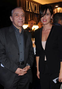 Sergio Solli and Luisa Ranieri at the cocktail party by Lancia Cafe during the 6th Rome Film Festival.
