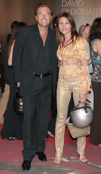 Sebastiano Somma and Guest at the David di Donatello 2007 Italian Awards.