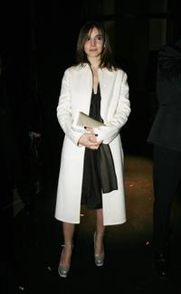 Clotilde Courau at the Armani show, as part of Paris Fashion Week Spring/Summer 2007.