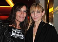 Clotilde Courau and Zoe Felix at the opening of a new YSL store.
