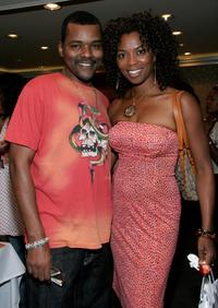 Gary Sturgis and Vanessa Williams at the celebration of the BET Awards.
