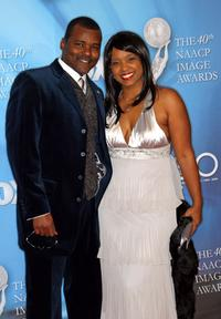 Gary Sturgis and Guest at the 40th NAACP Image Awards.