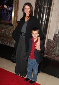 Jennifer Taylor and her Son at the opening night of