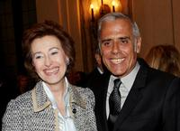 Letizia Moratti and Teo Teocoli at the Design for a better life Charity Auction.