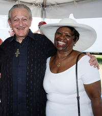 Charles Musselwhite and Irma Thomas at the Day 6 of 2011 New Orleans Jazz & Heritage Festival in New Orleans.