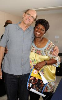 James Taylor and Irma Thomas at the 2009 New Orleans Jazz and Heritage Festival.