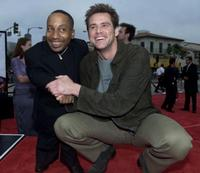 Tony Cox and Jim Carrey at the Los Angeles premiere of