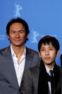 Tsuyoshi Ihara and Kazunari Ninomiya at the photocall of