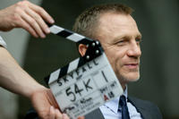 Daniel Craig as James Bond on the set of