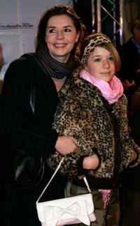 Dana Vavrova and her daughter at the premiere of
