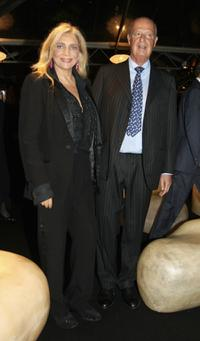 Mara Venier and her husband Nicola Carraro at the Steps And Stars Award in Piazza di Spagna as part of the Rome Film Festival.