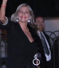 Mara Venier at the Flavio Briatore Wedding Reception.