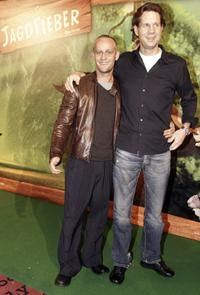 Jurgen Vogel and Thomas Heinze at the German premiere of