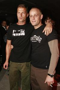 Til Schweiger and Jurgen Vogel at the after party of the premiere of