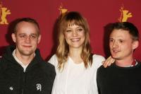 Jurgen Vogel, Heike Makatsch and Florian Lukas at the photocall of