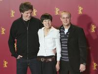 Director Matthias Glasner, Sabine Timoteo and Jurgen Vogel at the photocall of