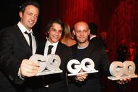 Tim Bronner, Kostja Ullmann and Jurgen Vogel at the GQ Men of the Year Award.