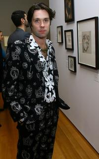 Rufus Wainwright at the opening exhibition of Lucian Freud.