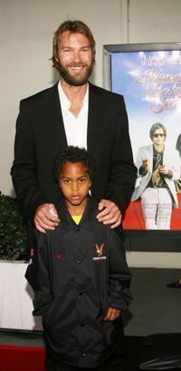 Andrew Wilson and his guest at the premiere of