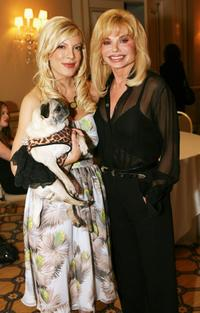 Loni Anderson and Tori Spelling at the Television Critics Association Winter Press Tour panel discussion.