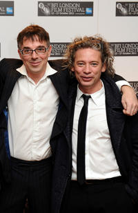 Charlie Creed-Miles and director Dexter Fletcher at the London premiere of