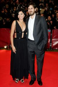 Maya Zapata and Simon Fields at the premiere of