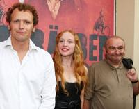 Director Marcus H. Rosenmueller, Brigitte Hobmeier and Sigi Zimmerschied at the premiere of