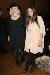Amanda de Cadenet and Atlanta Taylor at the Mercedes-Benz Fashion Week.
