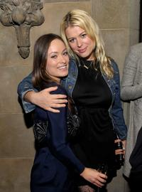 Olivia Wilde and Amanda de Cadenet at the Roland Mouret's Rainbow Collection launch for Net-A-Porter.