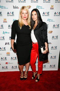 Amanda de Cadenet and Demi Moore at the 2011 A&E Television Networks Upfront Presentation in New York.
