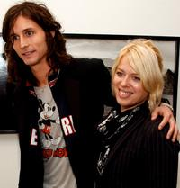 Nick Valensi and Amanda de Cadenet at the opening of Anton Corbijn's photo exhibition.