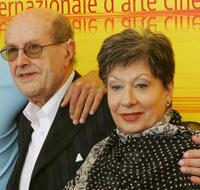 Director Manoel de Oliveira and Gloria de Matos at the 61st Venice International Film Festival.