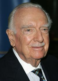 Walter Cronkite at the United Nations gala honoring the Unsung Heroes of Poverty.