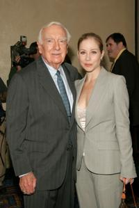 Walter Cronkite and Christina Applegate at the New Dramatists 56th Annual Benefit luncheon.
