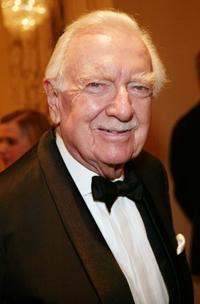 Walter Cronkite at the International Radio And Television Society Foundation's 2004 Gold Medal Dinner.
