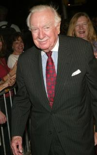 Walter Cronkite at the New York screening of