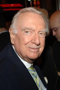 Walter Cronkite at the New York opening of