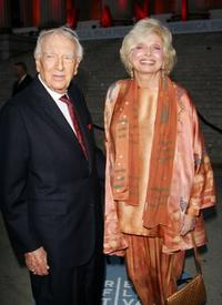 Walter Cronkite and Joanna Simon at the Vanity Fair 2007 Tribeca Film Festival party.