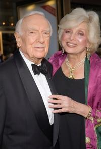 Walter Cronkite and Joanna Simon at the Metropolitan Opera's Opening Night.