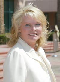 Cathy Lee Crosby at the memorial tribute for actor and comedian Bob Hope at the Academy of Television Arts & Sciences.